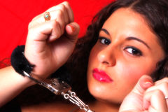 Woman in Cuffs Stock Photos