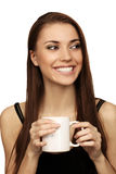 The woman with a cup Stock Photos