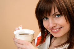 Woman drinking tea Royalty Free Stock Photos