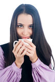 Woman with cup Royalty Free Stock Image