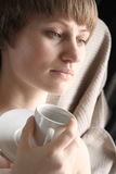 Woman with cup Stock Photography