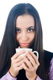 Woman with cup Stock Image