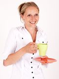 Woman with a cup Stock Image