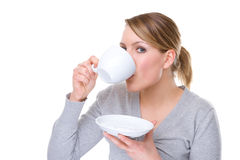 Woman with cup Royalty Free Stock Photos