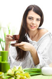 Woman With Cup Of Coffe Royalty Free Stock Photo