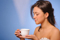 Woman with cup of coffee Royalty Free Stock Photo
