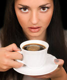 Woman with a cup of coffee. Sexy woman with a cup of coffee Royalty Free Stock Images