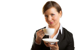 Woman with cup of tea Royalty Free Stock Image