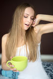 Woman with cup Royalty Free Stock Photo