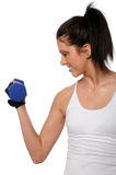 Woman Curling Dumbbell Stock Images