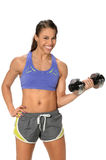 Woman Curling Dumbbell Royalty Free Stock Photos