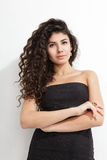 Woman with curly hair Stock Images