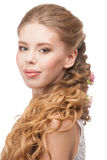 Woman with Curly Long Hair Stock Photography