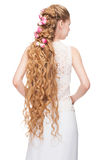 Woman with Curly Long Hair Royalty Free Stock Images