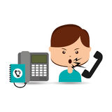 Woman customer complaints call center Royalty Free Stock Image