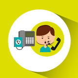 Woman customer complaints call center Stock Photo