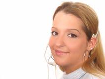 Woman Customer Service Stock Photo