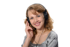 Woman customer service representative Stock Photo