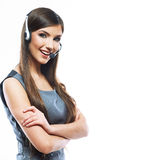 Woman customer service worker Stock Images