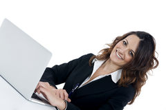 Woman customer service worker, call center smiling operator Royalty Free Stock Images