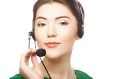 Woman customer service worker Royalty Free Stock Photos