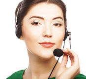 Woman customer service worker Royalty Free Stock Photography
