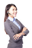 Woman customer support operator Royalty Free Stock Images