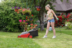 Woman cut garden Royalty Free Stock Photos
