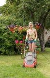 Woman cut garden Royalty Free Stock Photo