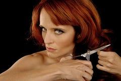 Woman Cutting hair Royalty Free Stock Photo