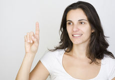 Woman in cyberspace Royalty Free Stock Photography