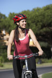 Woman On Cycle Ride Stock Images