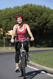 Woman On Cycle Ride Stock Photos