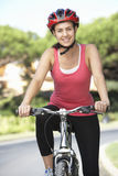 Woman On Cycle Ride Stock Photography