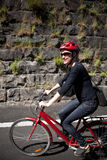 Woman cycling Stock Photos