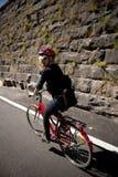 Woman cycling Royalty Free Stock Photos