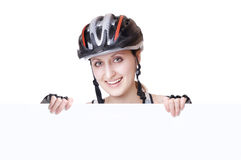 Woman cyclist Royalty Free Stock Photos