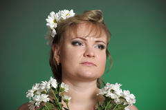 Woman with daisies Royalty Free Stock Photo