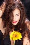 Woman and daisy Royalty Free Stock Photo