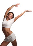 Woman and dance Royalty Free Stock Photography
