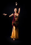 Woman dance in arabic costume Stock Photo