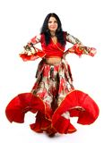 Woman dance in gipsy costume Stock Image