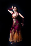 Woman dance - traditional arabic dress Royalty Free Stock Photos