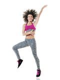 Woman dancer dancing fitness isolated Royalty Free Stock Images