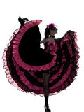 Woman dancer dancing french cancan Stock Images