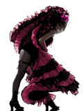 Woman dancer dancing french cancan Royalty Free Stock Images