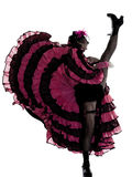 Woman dancer dancing french cancan Royalty Free Stock Image