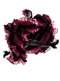 Woman dancer dancing french cancan Stock Photography