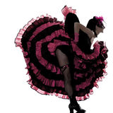 Woman dancer dancing french cancan Royalty Free Stock Photography
