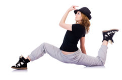 Woman dancer dancing Royalty Free Stock Images